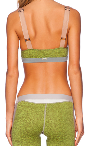 VPL Stripe B Bra: Lemon Lime