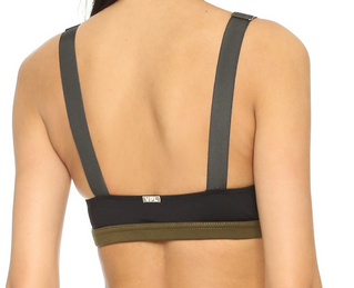 VPL Stripe B Bra: Military