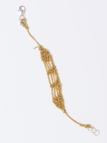 arielle de pinto bare frame bracelet - gold