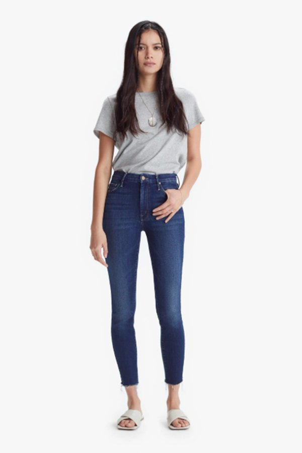 Mother Denim High Waisted Looker Skinny Jeans - Home Movies