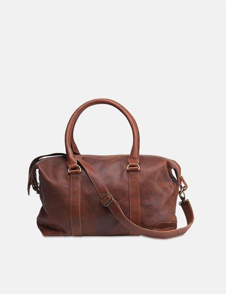 Nkuku Badwa Leather Weekend Bag - Dark Tanned