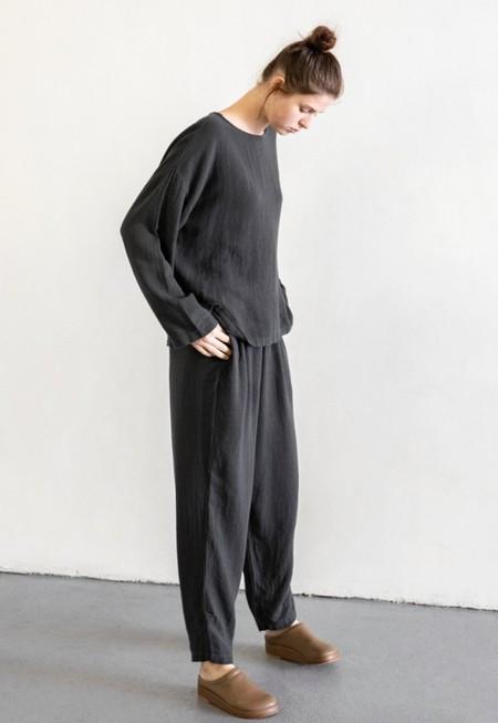 BLACK CRANE EASY PANTS - BLACK