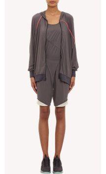 VPL Velocity Sweat Jacket: Grey with Fluoro Coral