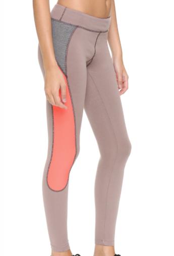 VPL X-curvate Legging W: Taupe x Fluoro Coral