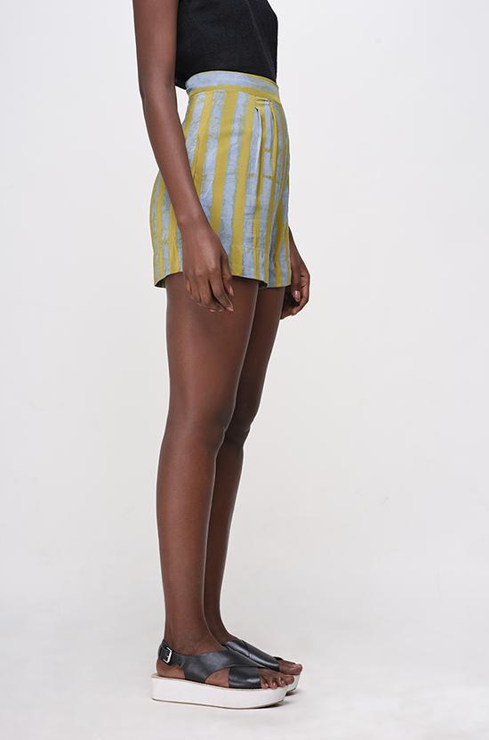 Osei-Duro Parva Shorts in Lawn Stripe