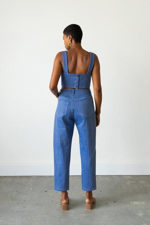 Waltz Carrot Jean - French Blue Denim