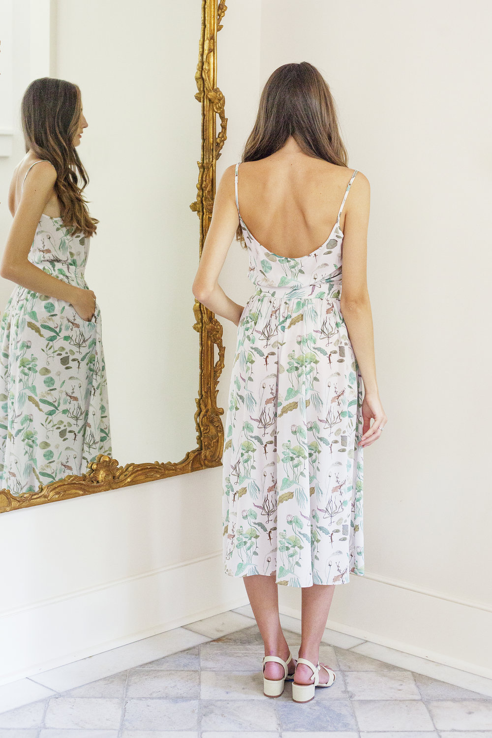 Plante rose skirt in lily pad print garmentory