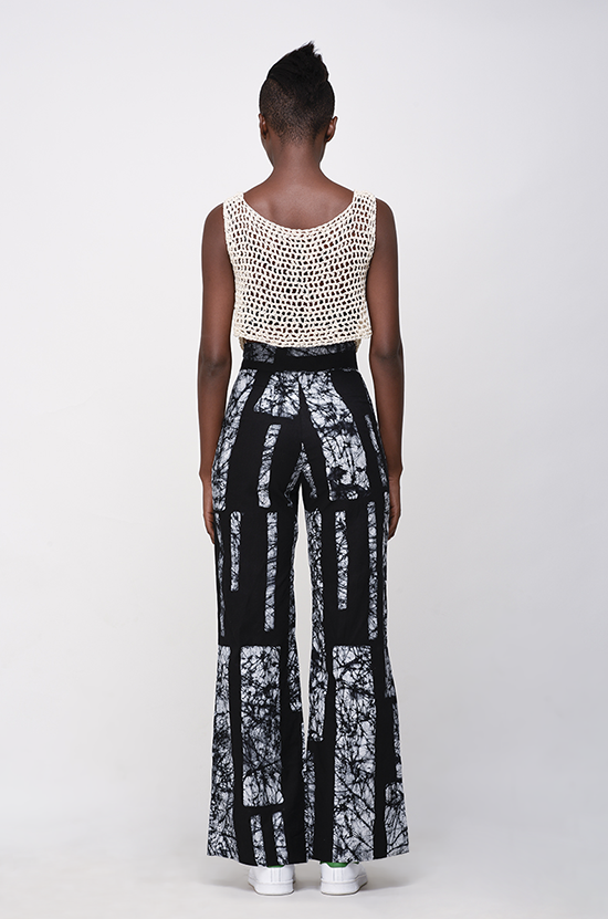 Osei-Duro Slant Trousers in B&W Parallel
