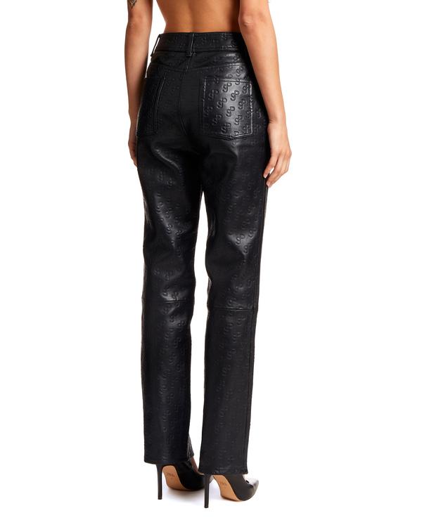 Saks Potts Logo Leather Pants - Black