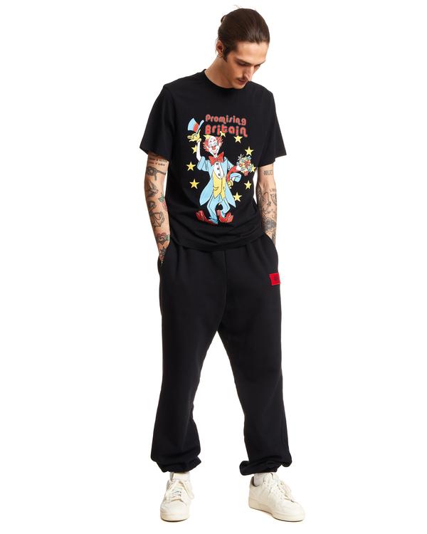 Martine Rose Cotton Clown Artwork T-Shirt - Black