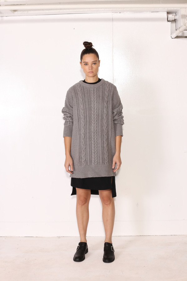 Unisex Intentionally Blank BACOPA SWEATER Grey