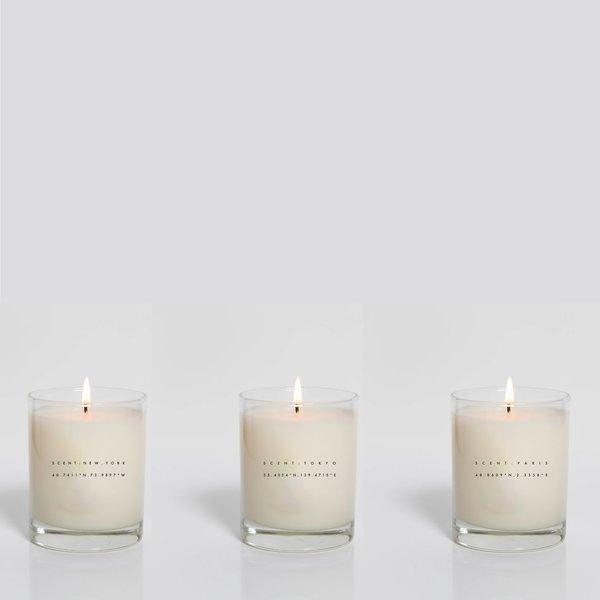 HNDSM New York, Tokyo, Paris Set of 3 Candles