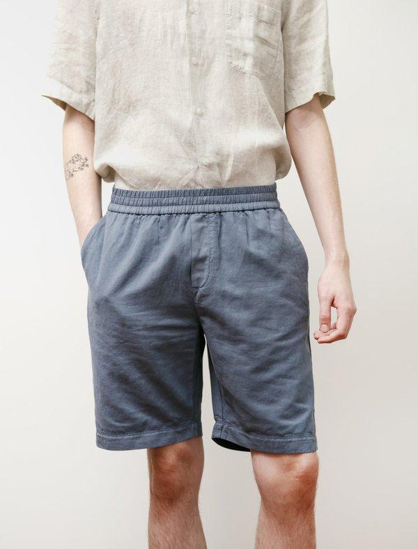 Sunspel Summer Drawstring Shorts - Blue Slate