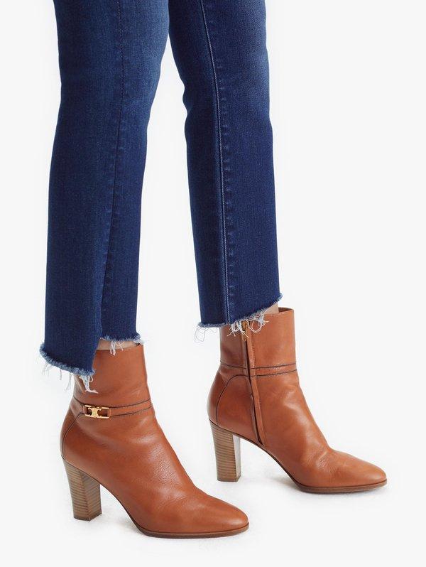 Mother Denim The Insider Crop Step Fray Jeans