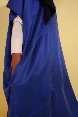 L.F. Markey Cooper Silk Dress - Cobalt
