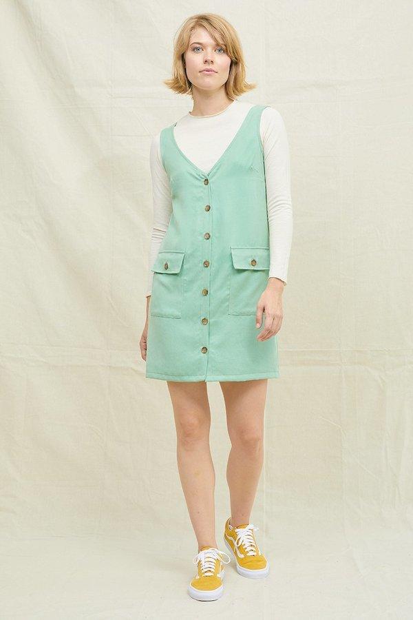 BACK BEAT RAGS Tencel Frankie Dress - Mint