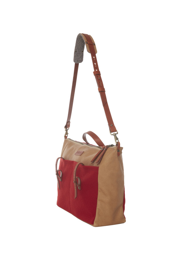 Lowell DANTE LAINE ROUGE / RED WOOL