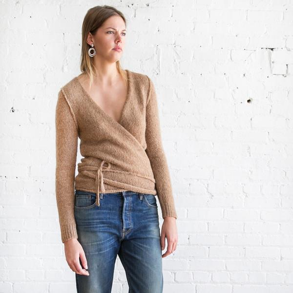 A Detacher Tiara Wrap Sweater