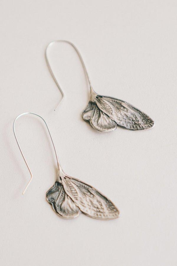 Theeth Cicada Wing Earrings
