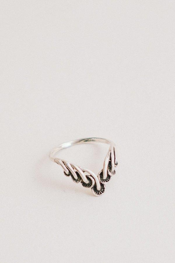 Theeth Mushroom Tiara Ring - Silver