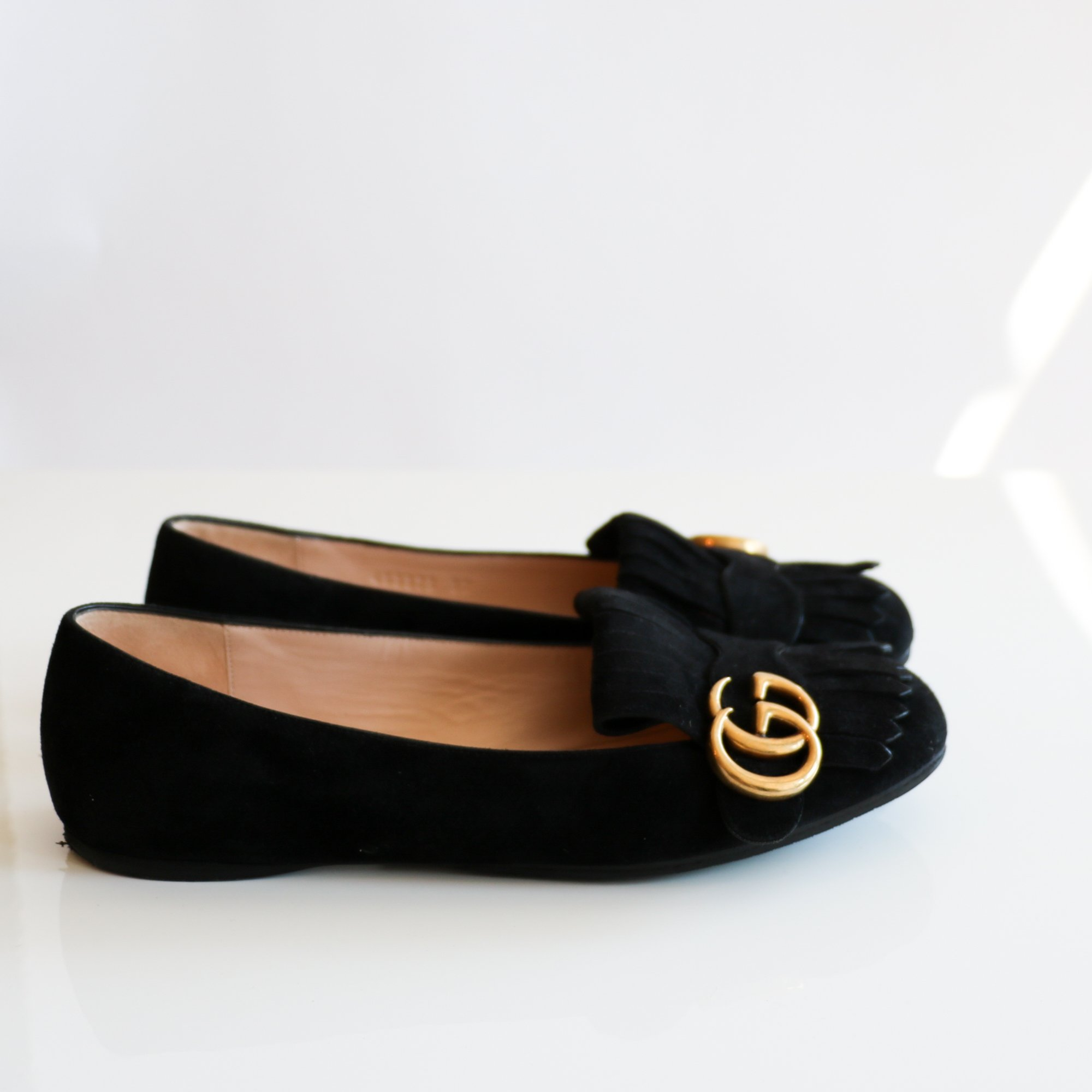Pre-loved] Gucci Marmont Loafers