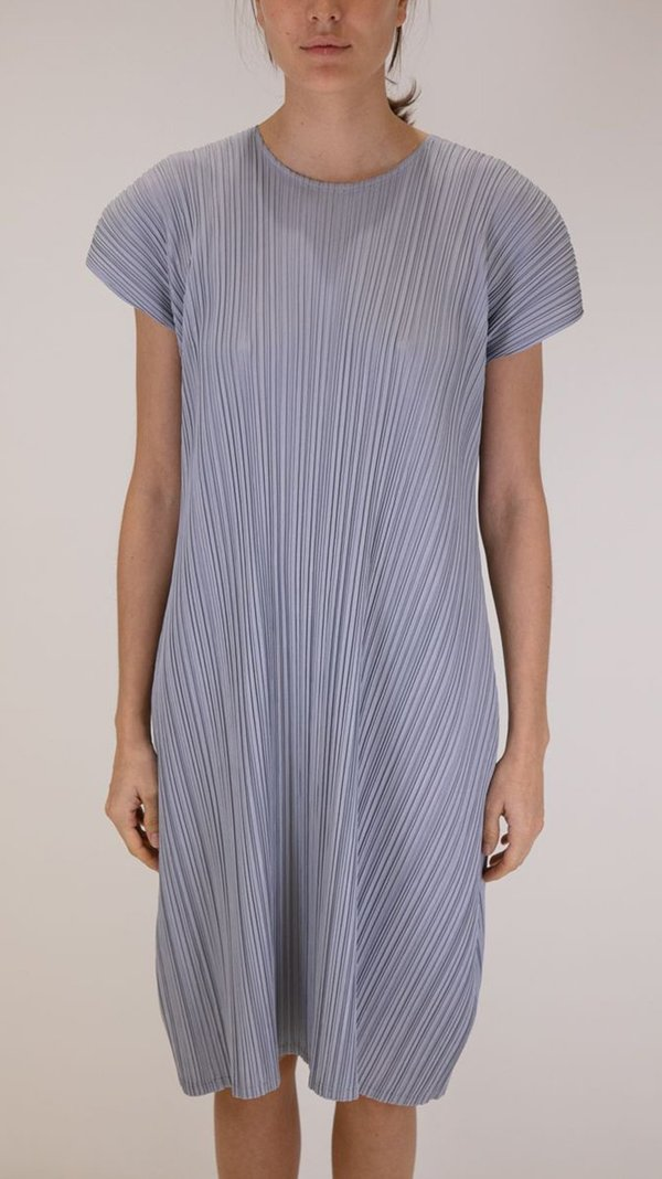 Issey Miyake Pleats Please Mellow Pleats Dress - Blue