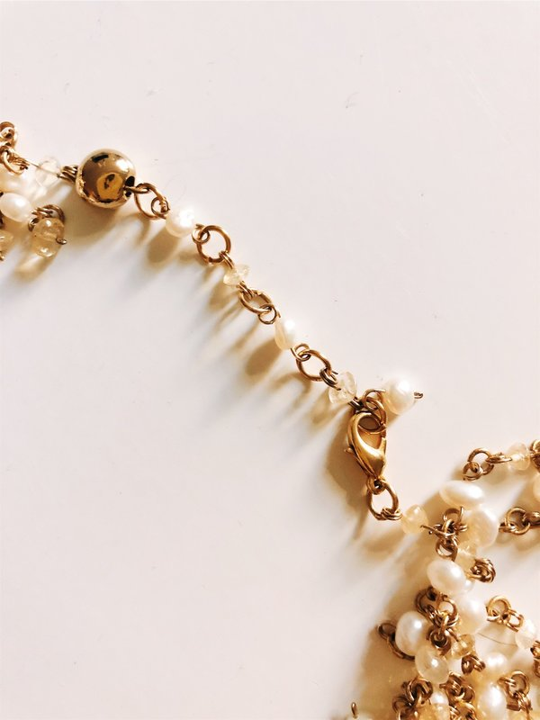 Francesca Romana Pearl Necklace - Gold
