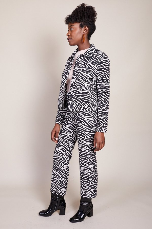 No.6 Claudia Jacket - Black/White Zebra