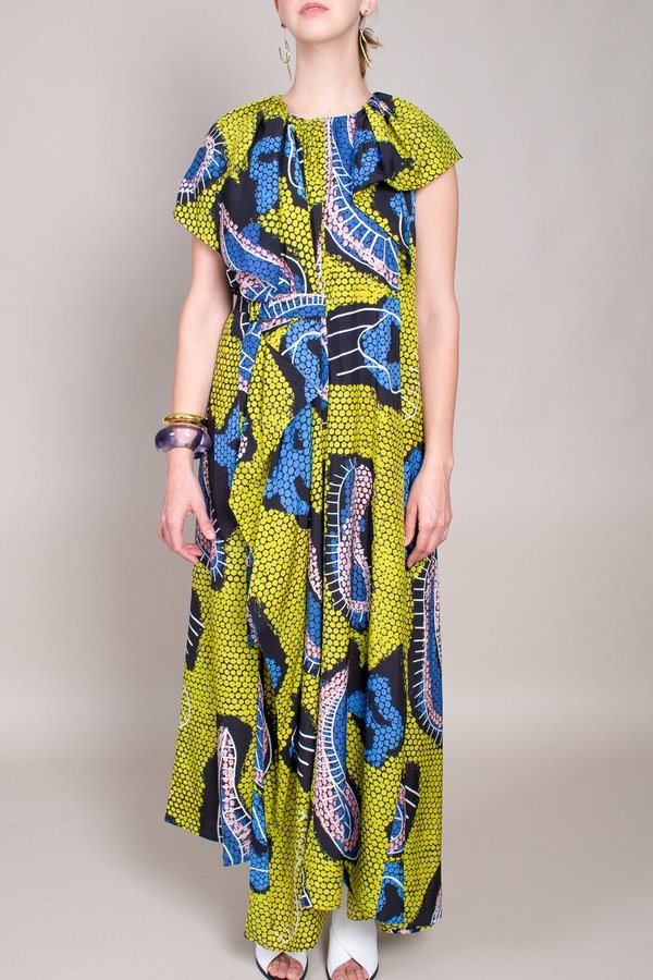 Christian Wijnants Diji Dress - Yellow Paisley