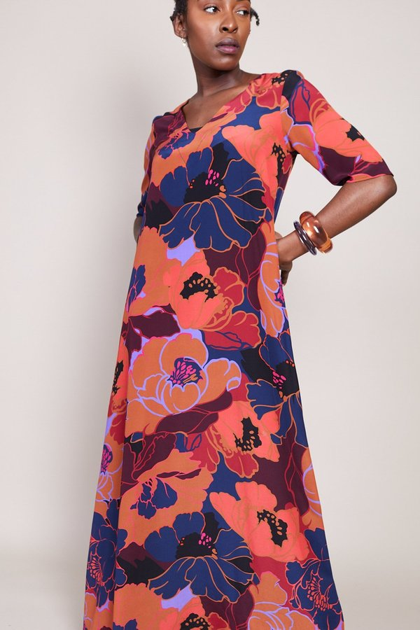 Warm Kensington Dress - Magenta