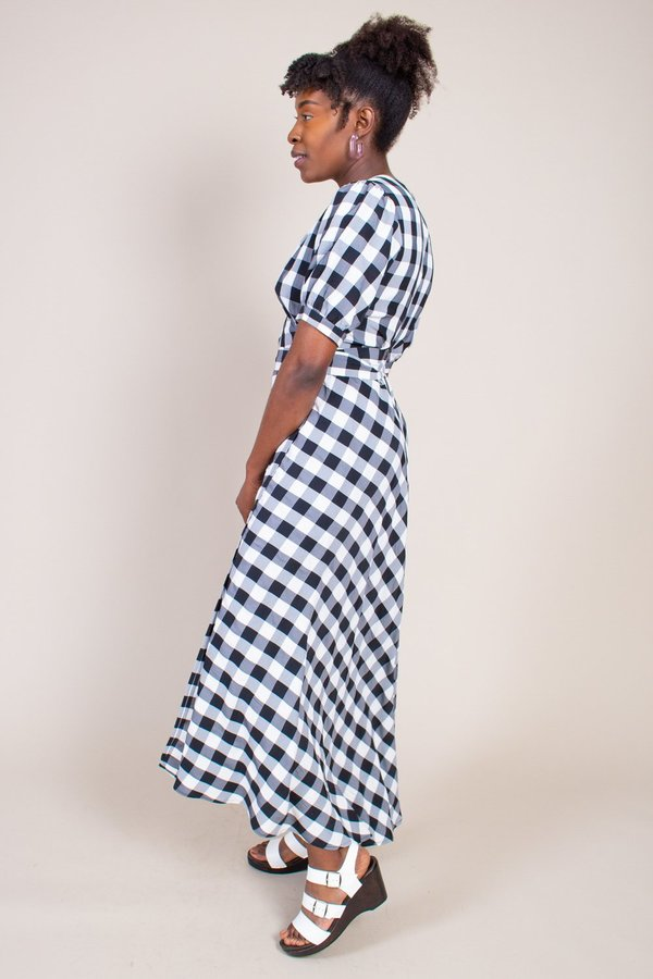 No.6 Lucia Dress - Black/White Gingham