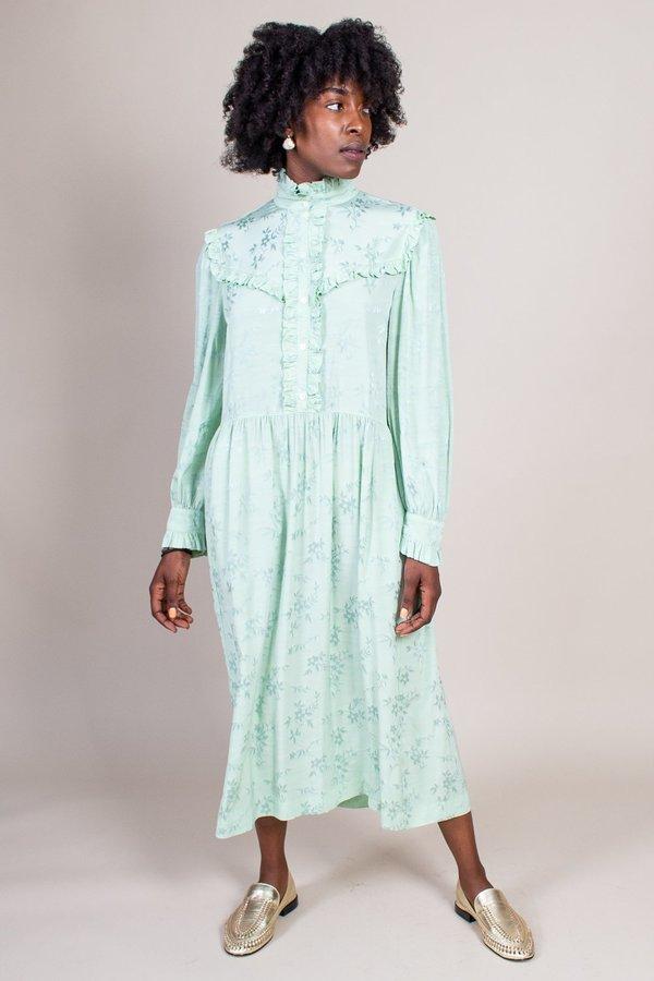 Raquel Allegra Luna Ruffle Dress - Mint