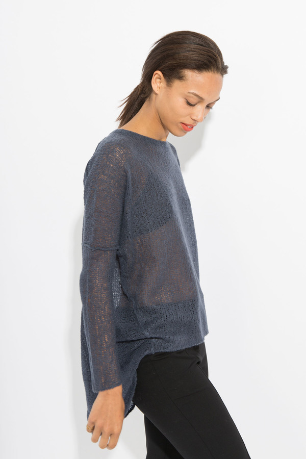 Paychi Guh Sheer Pullover - Ink Blue