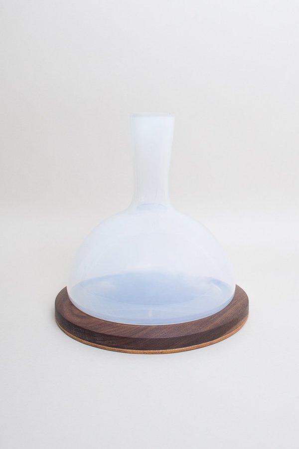 Elijah Leed Pique Vase Short - Opaline