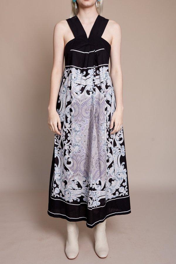 Rachel Comey Plentitude Dress - Black Paisley Print