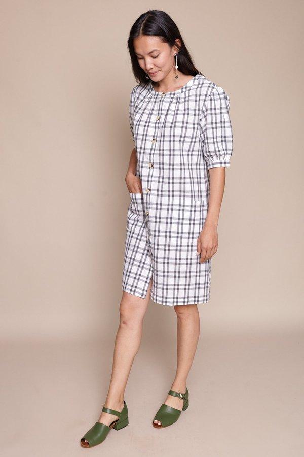Steven Alan Puff Sleeve Shirt Dress - Grey
