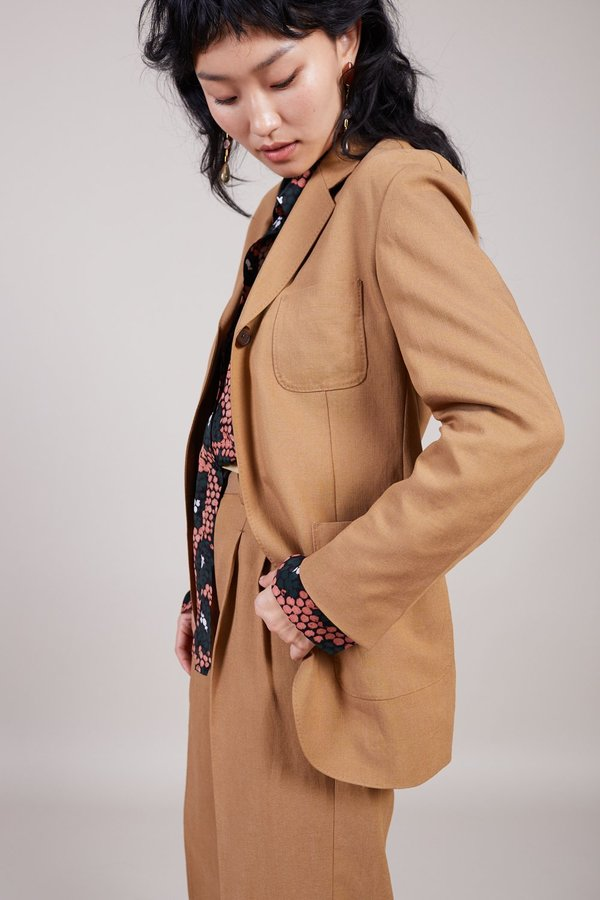 Sayaka Davis Safari Blazer - Chestnut