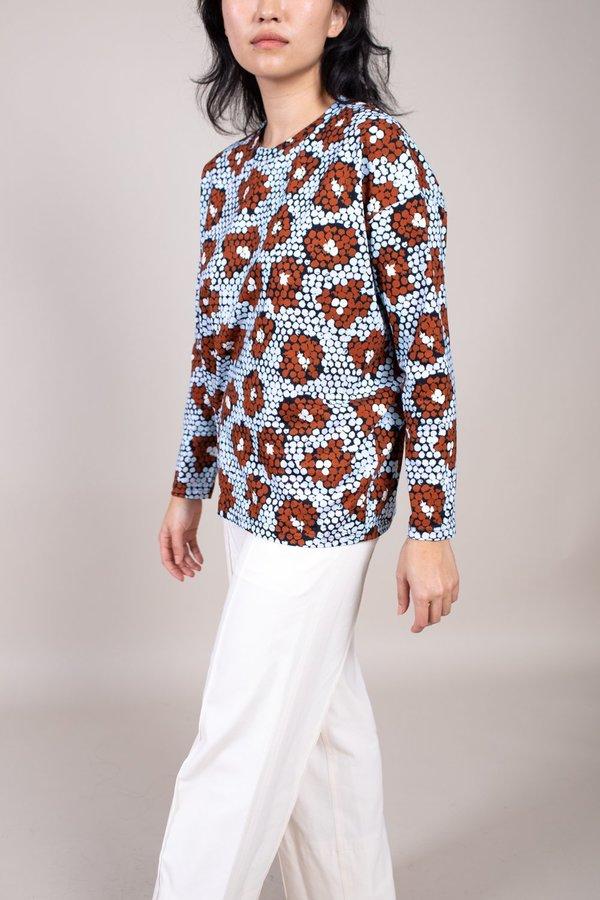 Christian Wijnants Turis Long Sleeve Shirt - Blue Daisy