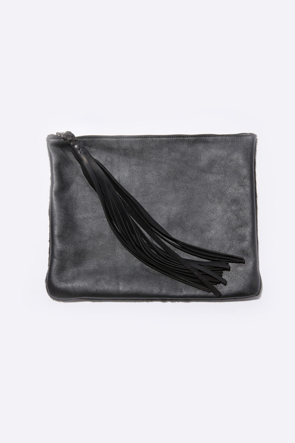 Moses Nadel Two Sided Tassel Pouch