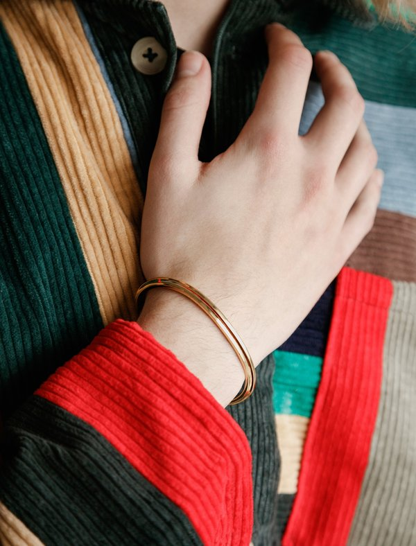 All Blues T-Beam Bracelet - Gold