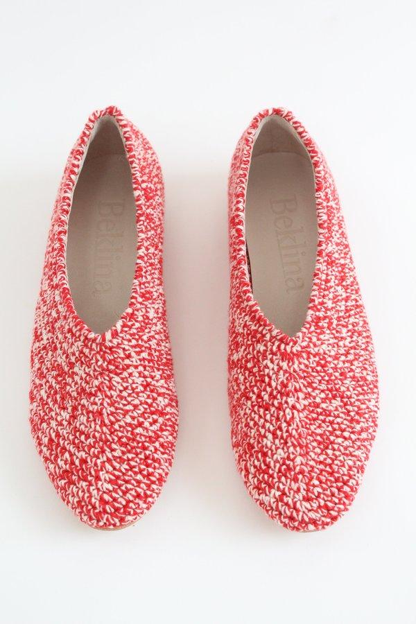 Beklina Crochet Ballet Flats - Red