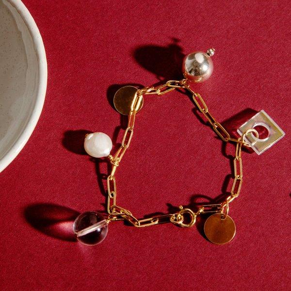 Highlow Mixed Media Charm Bracelet