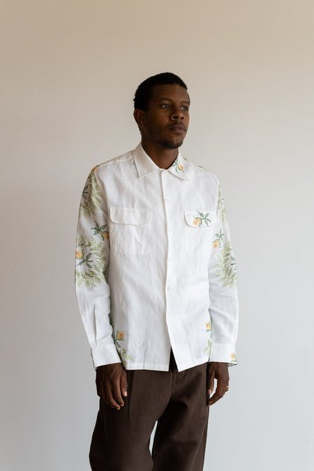 BODE CROSS STITCH HAVANA SHIRT - WHITE