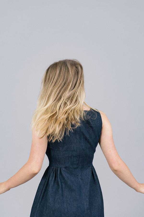 Harvey Faircloth Sleeveless Denim Dress