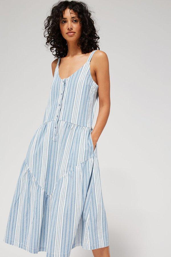 Lacausa Blue Moon Dress - Indigo Stripe