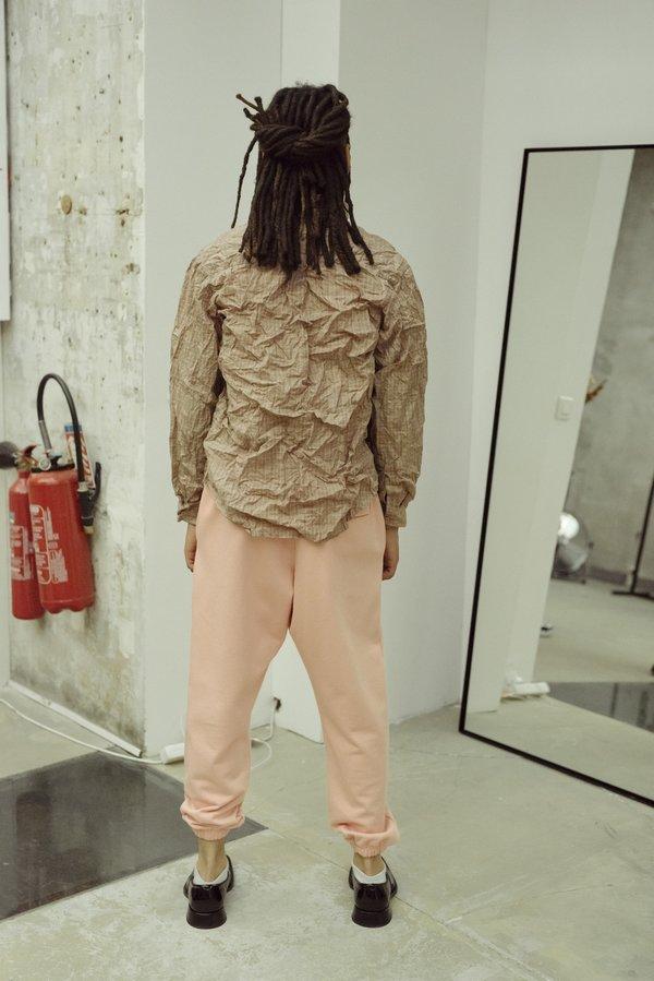 Martine Rose Donna Classic Crinkled Shirt - Orange Check
