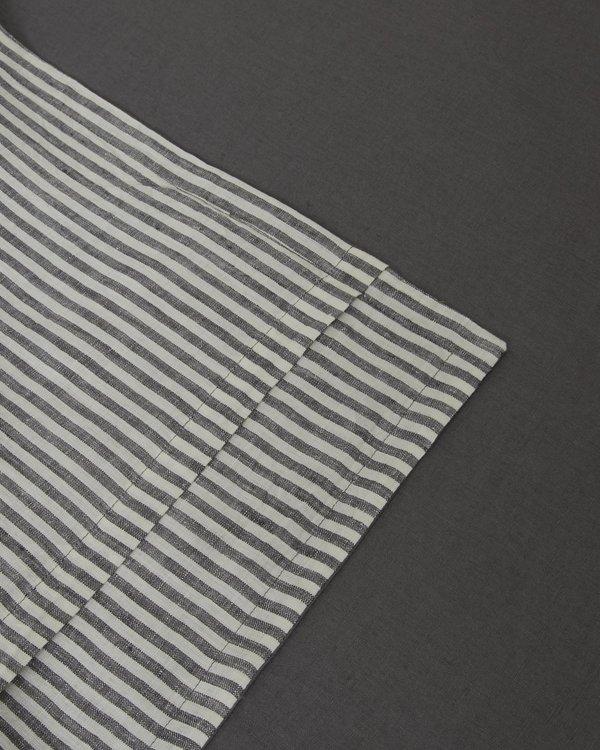 Sunday Morning Marcel Linen Pillowcases Pair - Storm/Storm Stripe