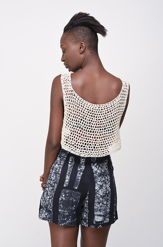 Osei-Duro Linia crochet tank in Cream