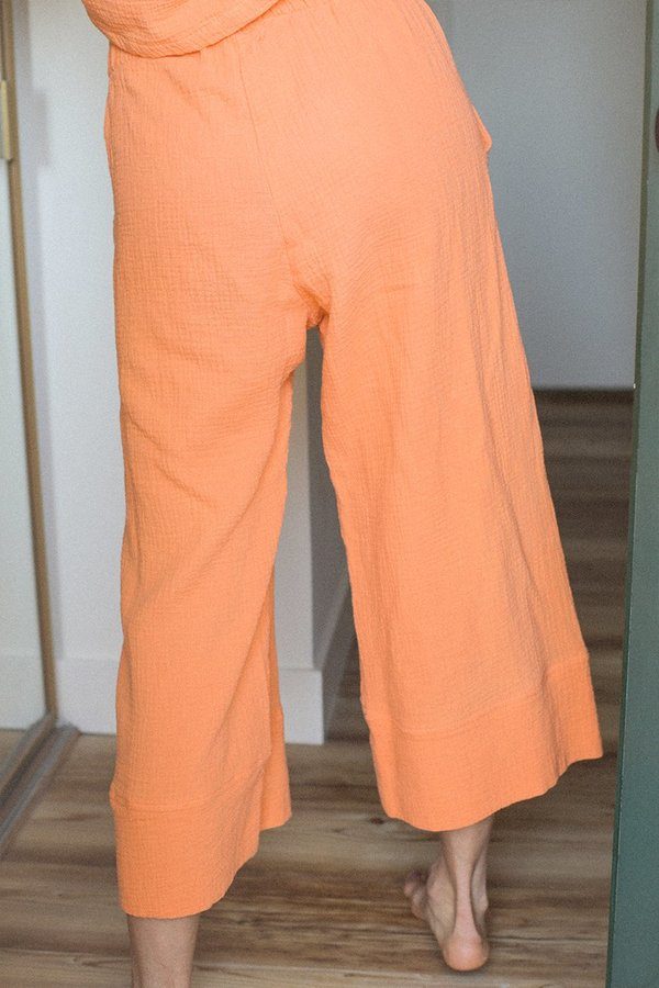 BACK BEAT RAGS Organic Cotton Pajama Bottom - Tangerine