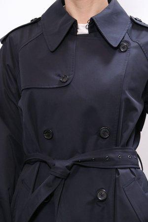 Nili Lotan Tanner Trench Coat - Dark Navy